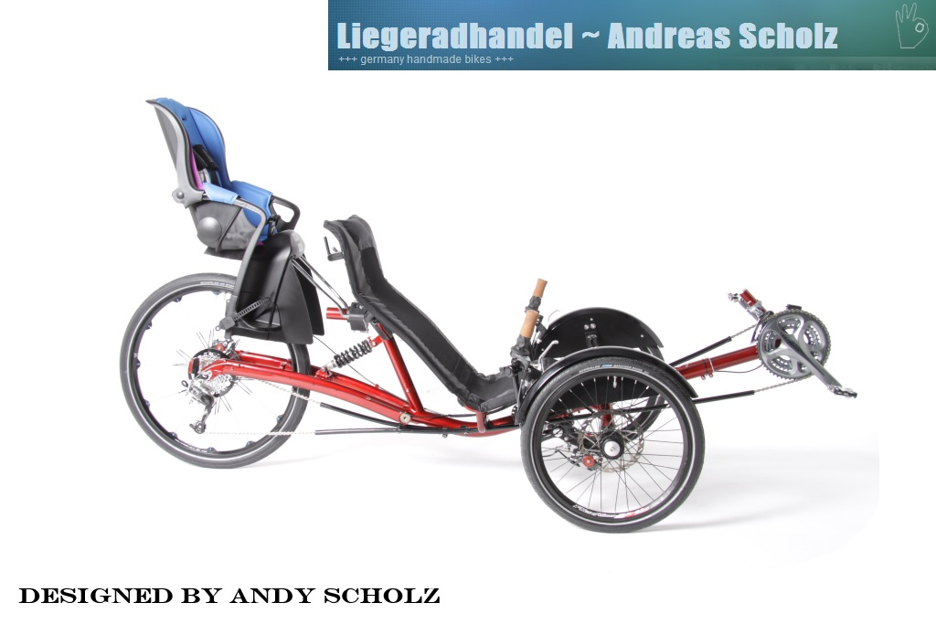 Barracuda Trike mit Kindersitz